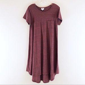 Lularoe Carly Dress Short Sleeve Swing Pockets S